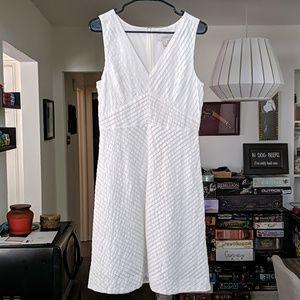 White Cotton J Crew Dress